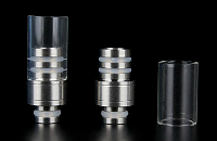 510 Detachable Top Pyrex & Metal Drip Tip image 1
