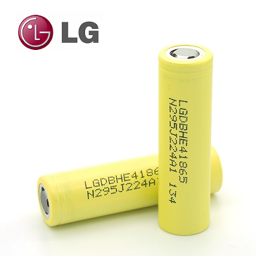 LG HE4 18650 High Drain Battery (Flat Top)