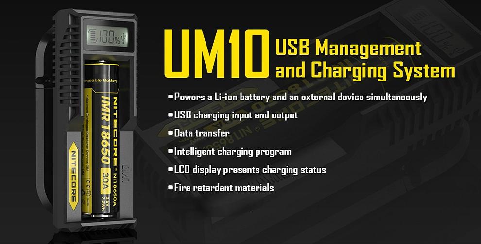Nitecore UM10 External Battery Charger