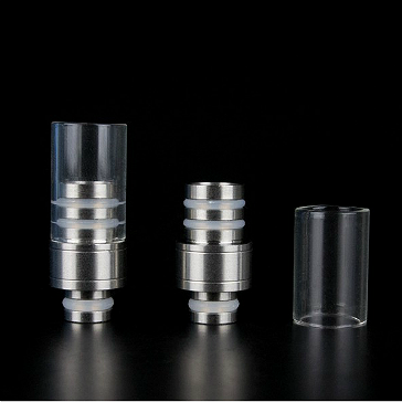 510 Detachable Top Pyrex & Metal Drip Tip