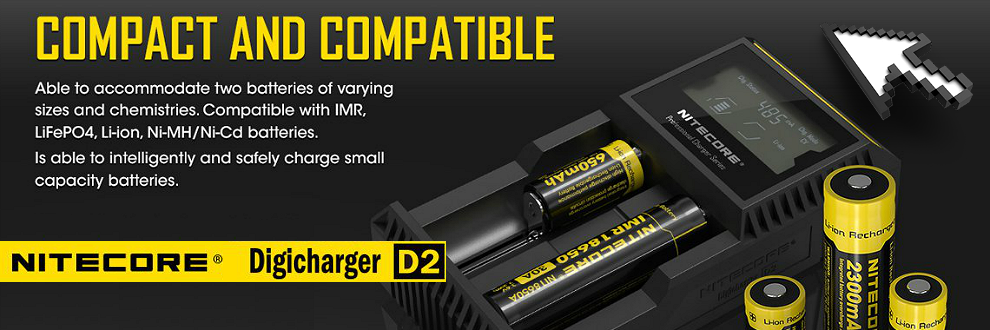 nitecore, charger, external charger, nitecore d2, quality charger, fast charger, quick charger